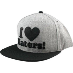 DGK CAP ADJ HATERS HTHR/BLK - Click for more info