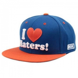 DGK CAP ADJ HATERS NY BLU/ORG - Click for more info