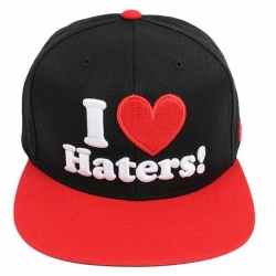 DGK CAP ADJ HATERS BLK/RED - Click for more info