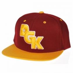 DGK CAP ADJ STAGGER BURG/YEL - Click for more info