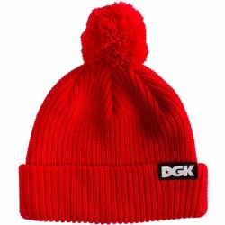 DGK BEANIE CLASSIC POM RED - Click for more info