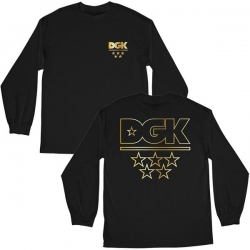 DGK LS TEE ALL STARS BLK/GLD L - Click for more info