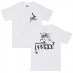 DGK TEE PUSHING WHT L - Click for more info