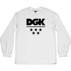 DGK LS TEE ALL STAR WHT L - Click for more info