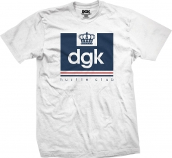 DGK TEE HUSTLE CLUB WHT M - Click for more info