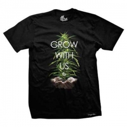 ORG TEE HAND GRWN BLK S - Click for more info