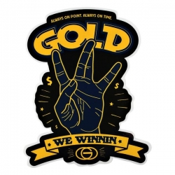 GLD STKR WE WINNIN 10PK - Click for more info