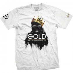 GLD TEE KING WHT M - Click for more info