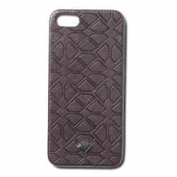 DMD IPHONE CASE SPLT LTHR BLK - Click for more info