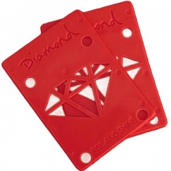 DMD RISER PADS 1/8 PAIR RED - Click for more info