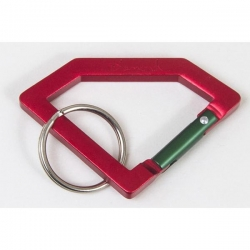 DMD KEYCHAIN CARABINER RED/GRN - Click for more info