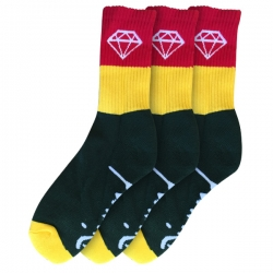 DMD SOCK ROCK SPORT GRN/YL 3PK - Click for more info