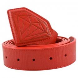 DMD BELT ELEPHANT LTHR RED - Click for more info