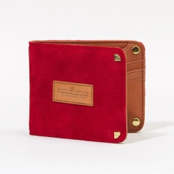DMD WALLET BIFLD SUEDE LIZ RED - Click for more info