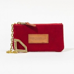 DMD POUCH SUEDE LIZRD RED - Click for more info