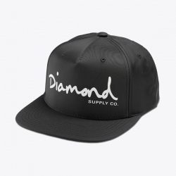 DMD CAP ADJ OG SCRIPT BLK - Click for more info