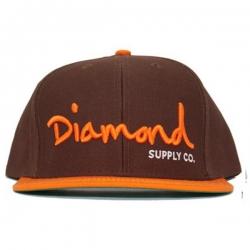 DMD CAP ADJ OG SCRIPT BRN/ORG - Click for more info