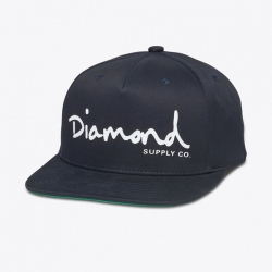 DMD CAP ADJ OG SCRIPT NVY - Click for more info