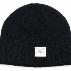DMD BEANIE CHKR FOLD ORG - Click for more info