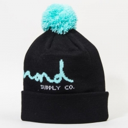 DMD BEANIE OG SCRIPT POM BLK - Click for more info