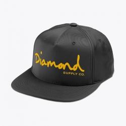 DMD CAP ADJ OG SCRIPT BLK/GLD - Click for more info