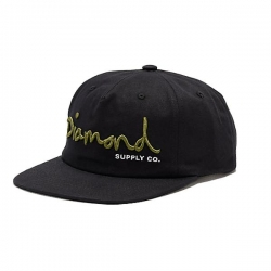 DMD CAP ADJ OG SCRIPT HOL18 BK - Click for more info