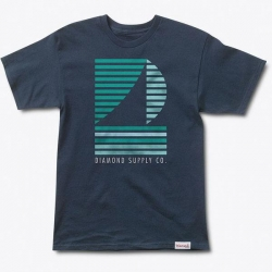 DMD TEE STRIPE BOAT NVY L - Click for more info