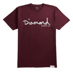 DMD TEE OG SCRIPT BURG/GRY L - Click for more info