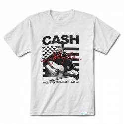 DMD TEE CASH RULES WHT L - Click for more info