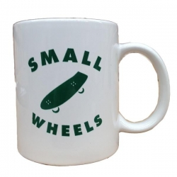SML COFFEE MUG WHT/GRN - Click for more info