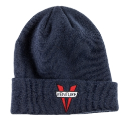 VNT BEANIE HERITAGE CUFF NVY - Click for more info