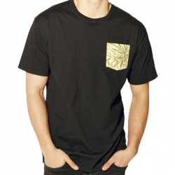 MH TEE PKT LEAF BLK M - Click for more info