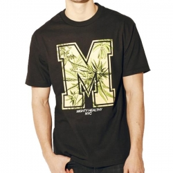 MH TEE M LEAF BLK M - Click for more info