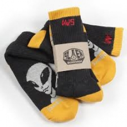AWS SOCK BELIEVE BLK/GLD/GRY - Click for more info