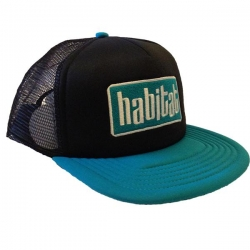 HAB CAP TRKR APEX BLK/TEAL - Click for more info