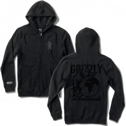GRZ SWT ZIP ALL OVER WLD BLK S - Click for more info