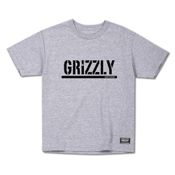 GRZ YT TEE STAMP HTH/BLK L - Click for more info
