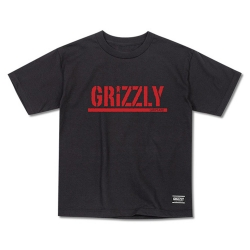 GRZ YT TEE STAMP BLK/RED S - Click for more info
