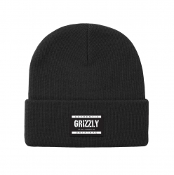 GRZ BEANIE LABELED BLK - Click for more info