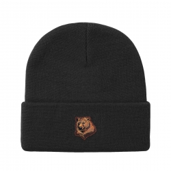 GRZ BEANIE BEAR BLK - Click for more info