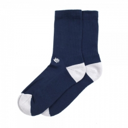 MGNTA SOCK BRODE NVY - Click for more info