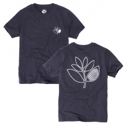 MGNTA TEE PLANT OUTLINE BLK XL - Click for more info