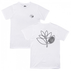 MGNTA TEE PLANT OUTLINE WHT M - Click for more info