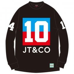 JT&CO LS TEE NO.10 BLK XL - Click for more info