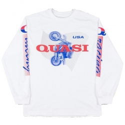 QSI LS TEE CLOCKED WHT L - Click for more info