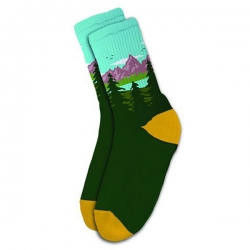 SKM SOCK TAKE A HIKE GRN - Click for more info