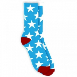 TRD SOCK STAR BLU - Click for more info