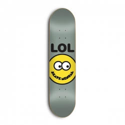 SKM DECK SMILEY FACE GRY 8.25 - Click for more info