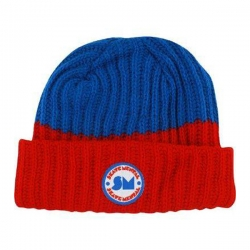 SKM BEANIE TWO TONE RD/BLU - Click for more info