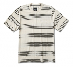 PRM SS KNIT CLSC STRIPE ECRU M - Click for more info